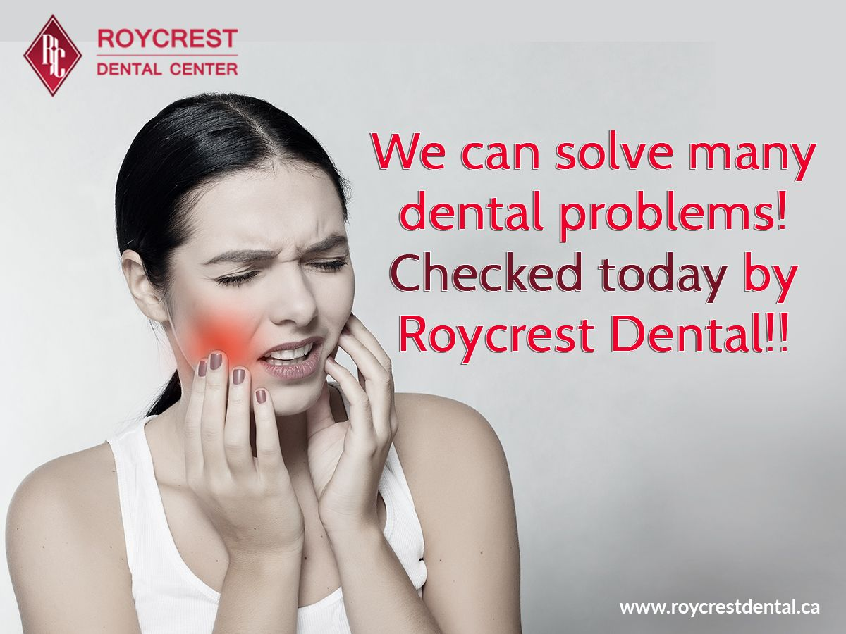We can solve many dental problems! Checked today by