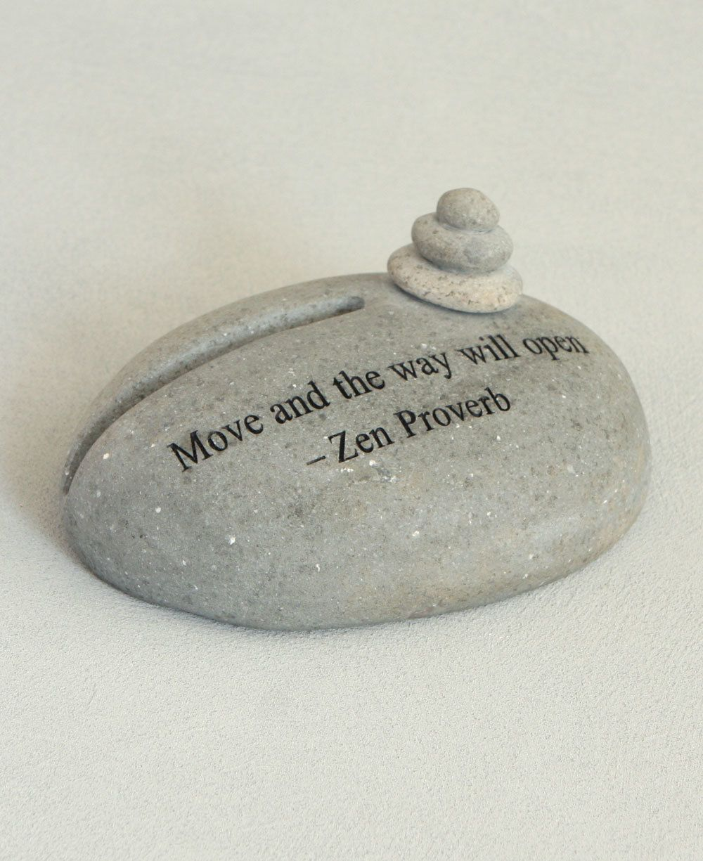 Zen proverb stone cairn business card holder gifts pinterest zen proverb stone cairn business card holder reheart Gallery