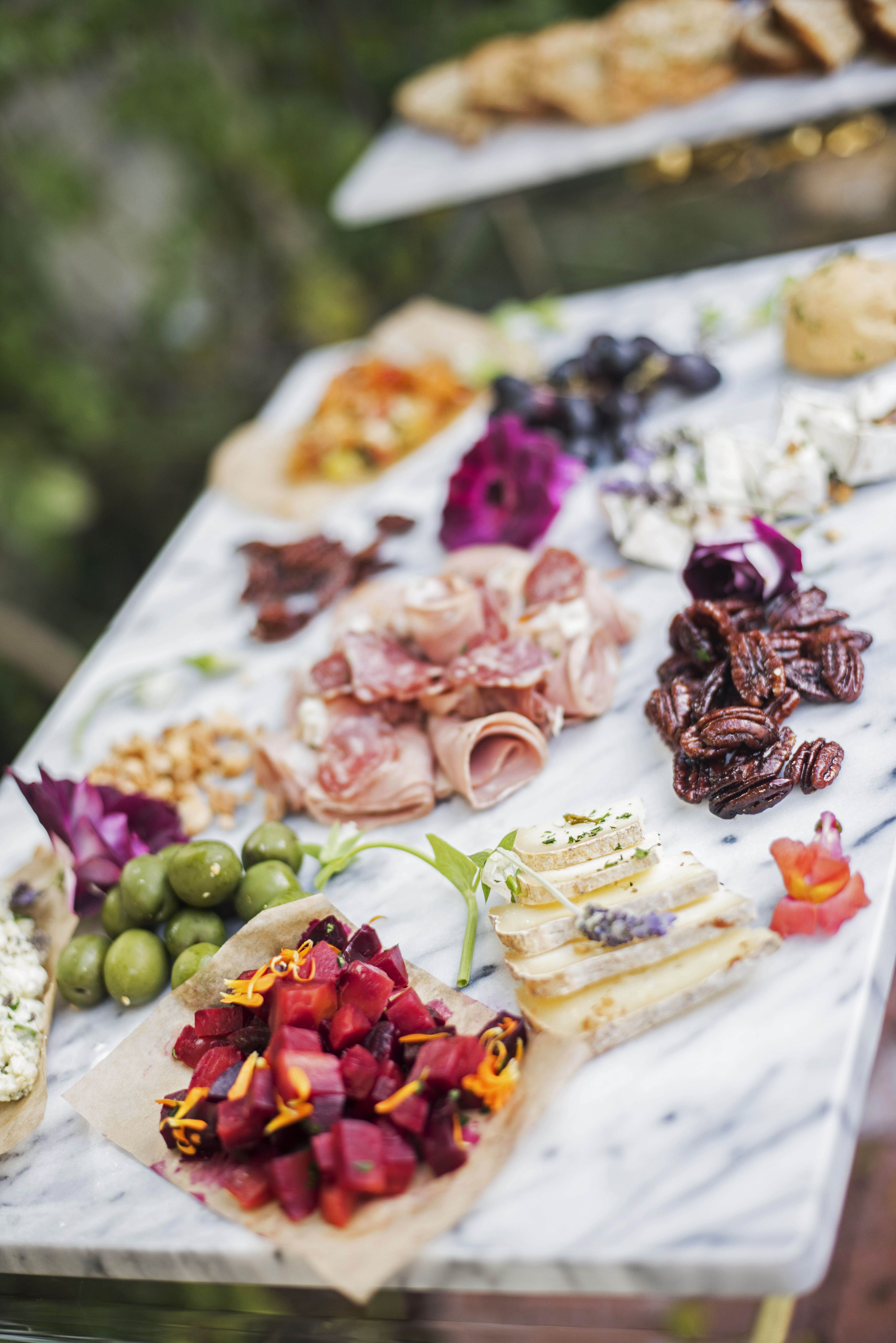 Appetizers at Emily Schuman's Garden Party