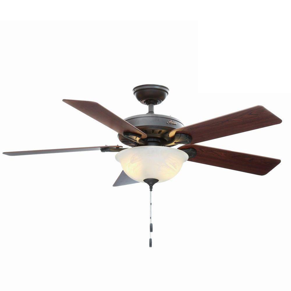 Hunter pros best five minute 52 in indoor new bronze ceiling fan hunter pros best five minute 52 in indoor new bronze ceiling fan with light kit aloadofball Gallery