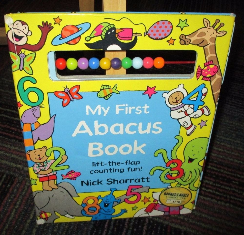 MY FIRST ABACUS BOARD BOOK, LIFT-THE-FLAP COUNTING FUN BY NICK SHARRATT, GUC