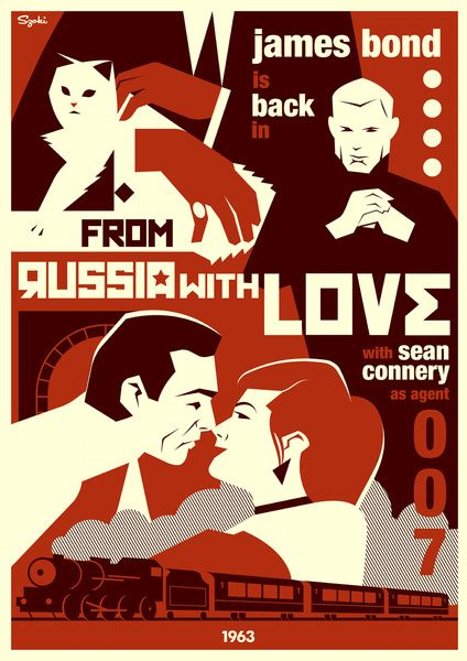 007 From Russia With Love Art Print James Bond Girls Bond