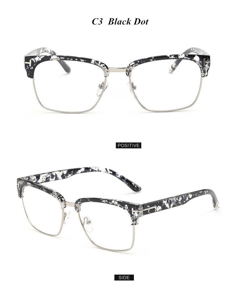 44667834c4 Brand Half Frame Female Eyeglasses Men Vintage Eye Glasses Frame for Women  Optical Spectacle Frame Reading Prescription Eyewear WOW Get it here