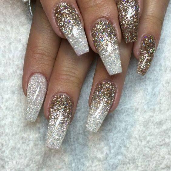 Shellac Nails Glitter Designs Papillon Day Spa