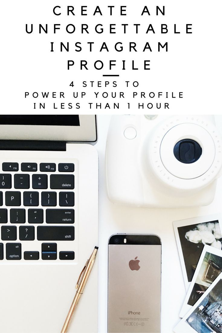 4 steps to creating an instagram profile