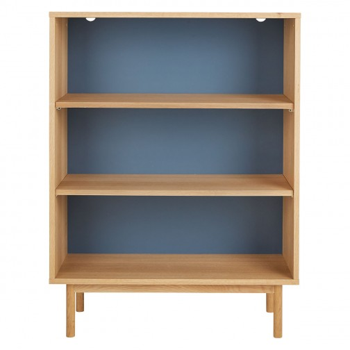 Neville Blue Bookcase With 3 Shelves In 2020 Blue Bookcase Bookcase Shelves