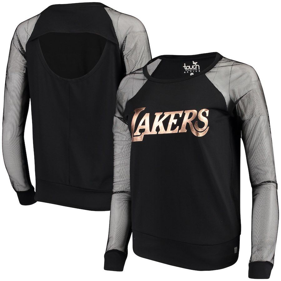 Women s Los Angeles Lakers Touch by Alyssa Milano Black Make the Cut Long  Sleeve Top 450ea097a