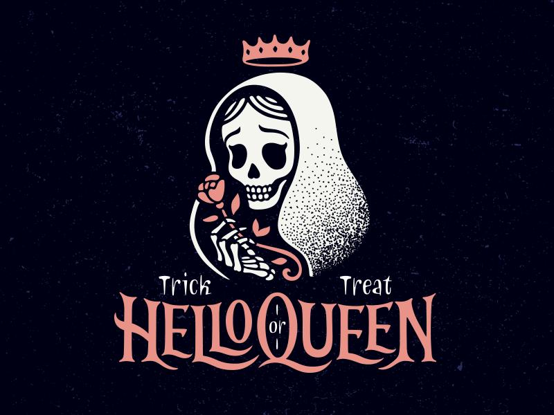 2020 Halloween Logo HelloQueen | Halloween logo, Halloween typography, Graphic design logo