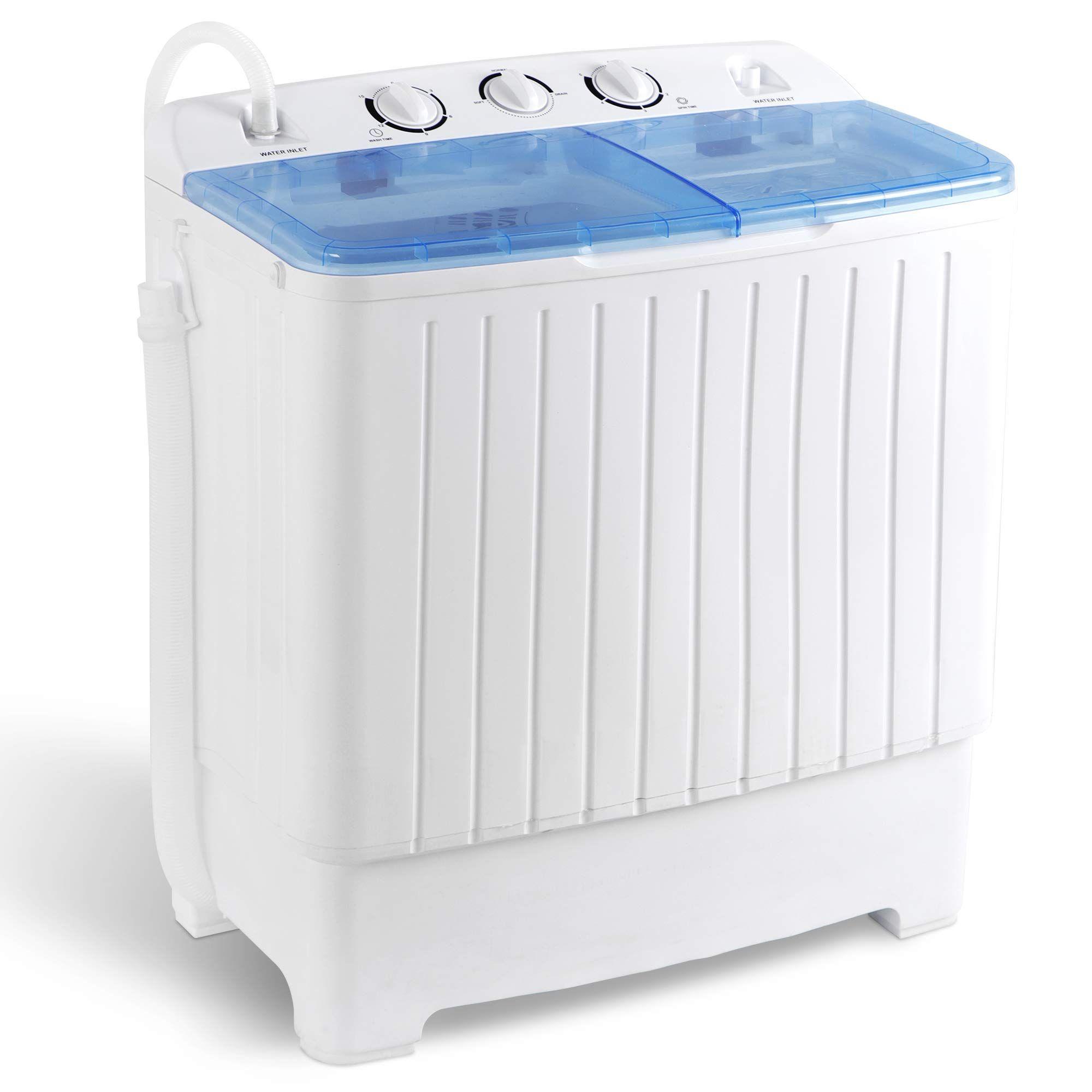 Super Deal 2in1 Mini Compact Twin Tub Washing Machine 17 6lbs