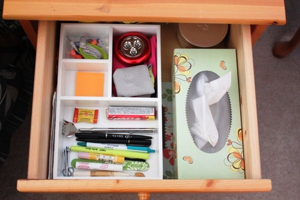 Quick Organizing Tasks Nightstand Drawer is part of Nightstand Drawer Organization - Quick Organizing Tasks Nightstand Drawer