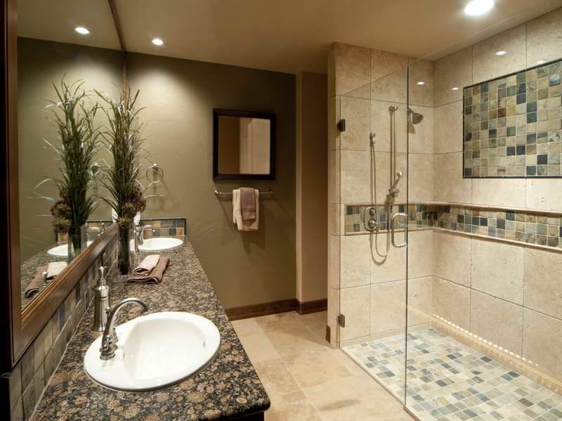 Bathroom Tile Ideas On A Budget. Remodeled Bathrooms Plans On A Budget With  Tiled Walls