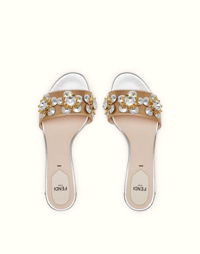1114b81a1f2c FENDI SANDALS - in laminated nappa with flowers