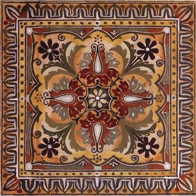 Italian Tile Style Design Ii Tuscan Kitchen Decor Square Coaster Set Of 4