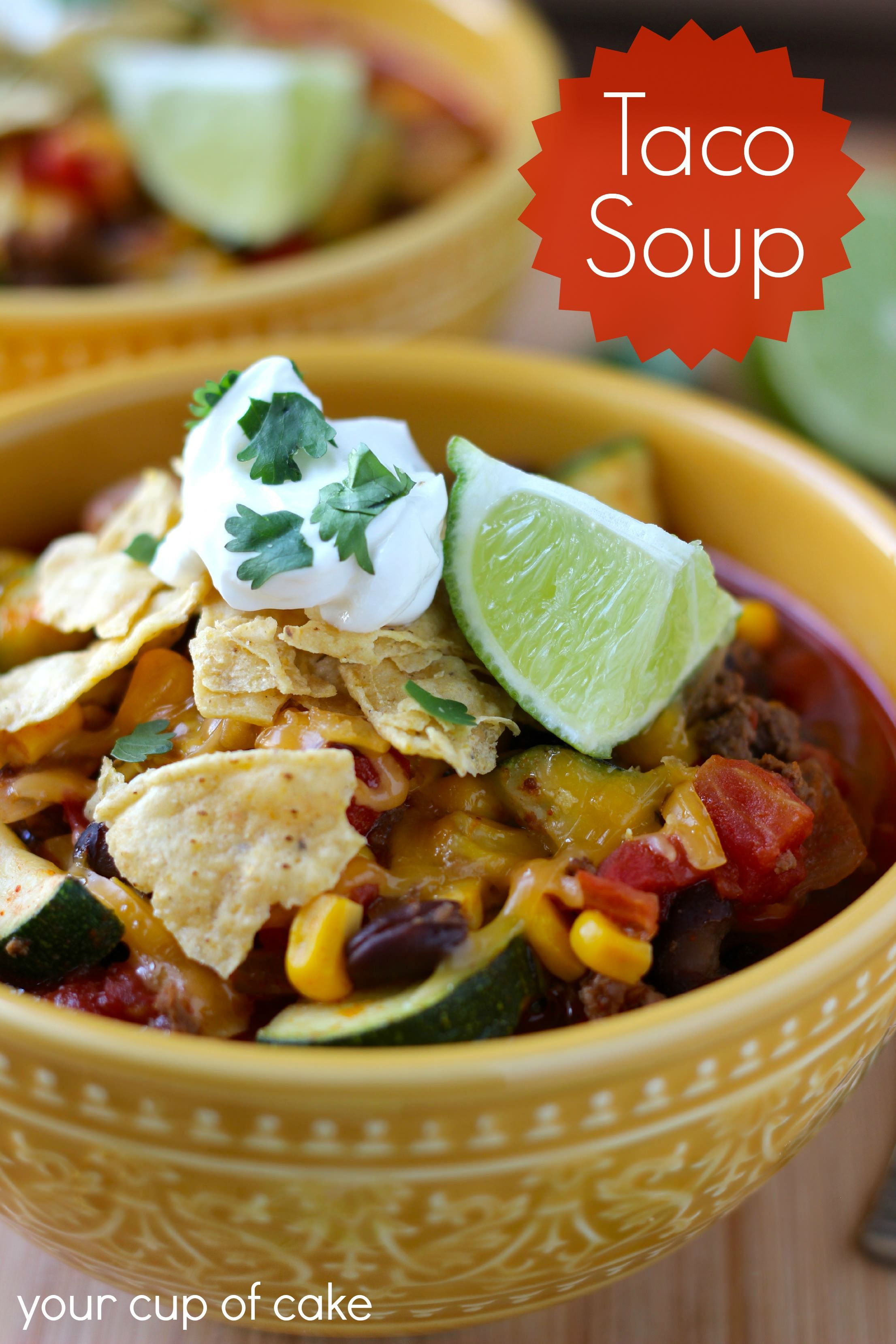 Taco Soup Recipes, Taco soup, Cooking dinner