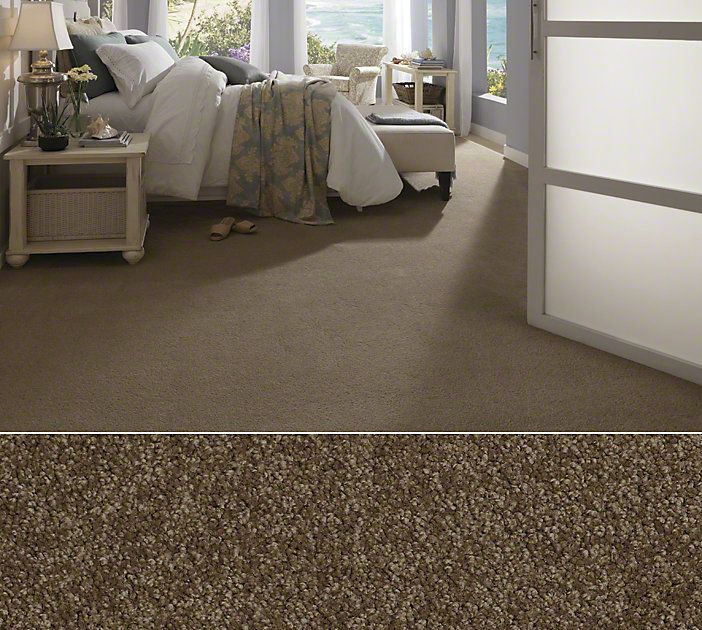 Shaw Textured Carpet In Anso Nylon Style Glen Avon Color
