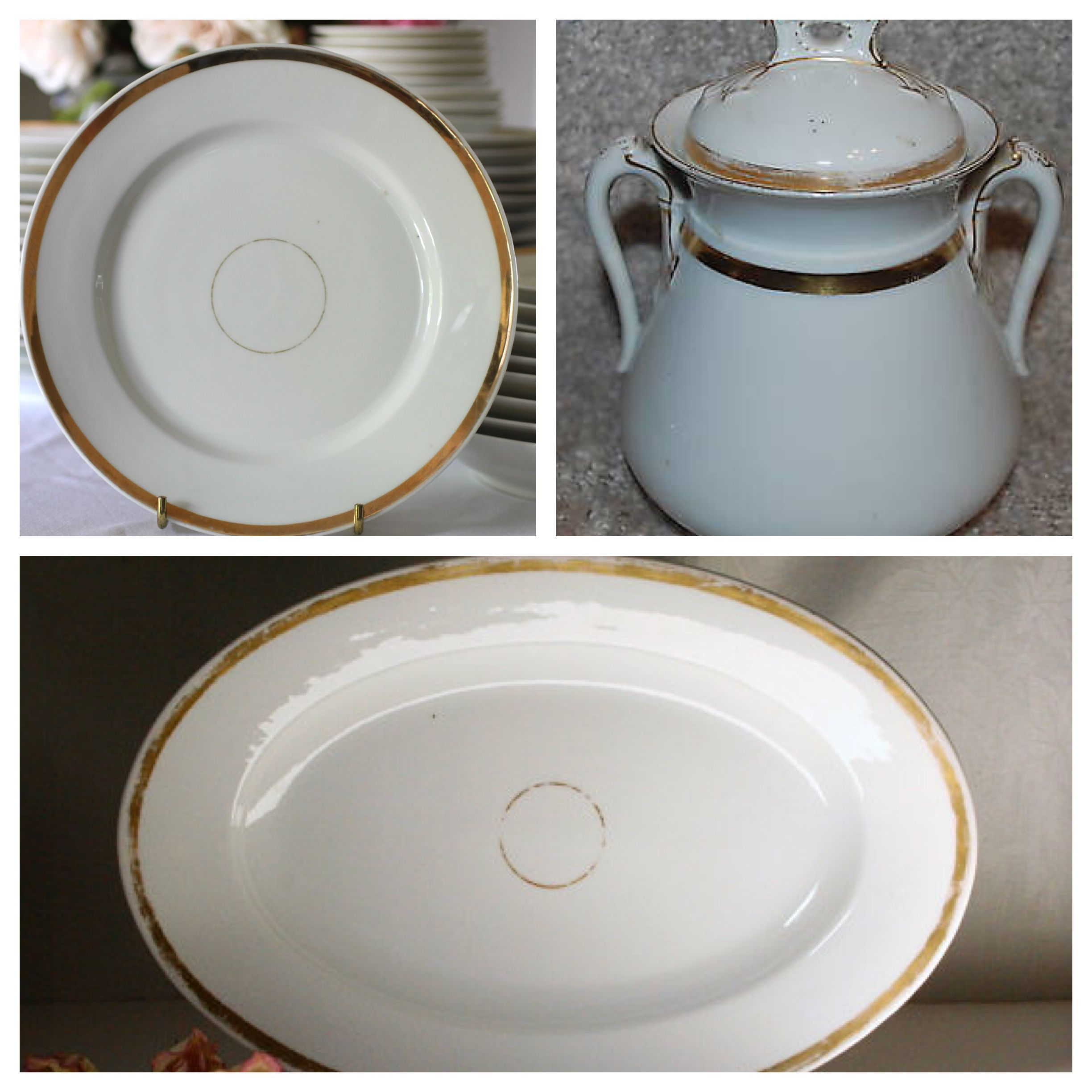 My great- grandmother had a set of French porcelain Limoges  wedding Ring  china & My great- grandmother had a set of French porcelain Limoges