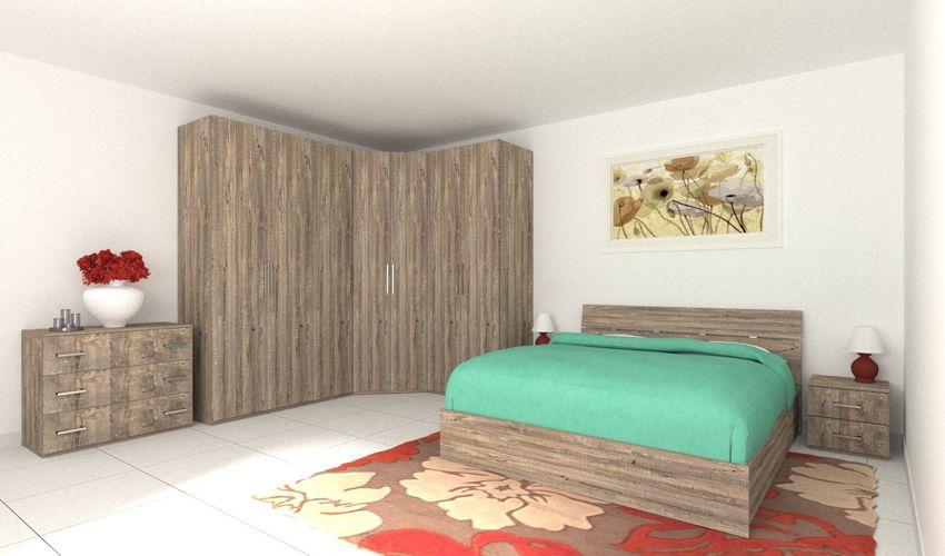 Offerta Camera da letto Armadio Angolare letto con ...