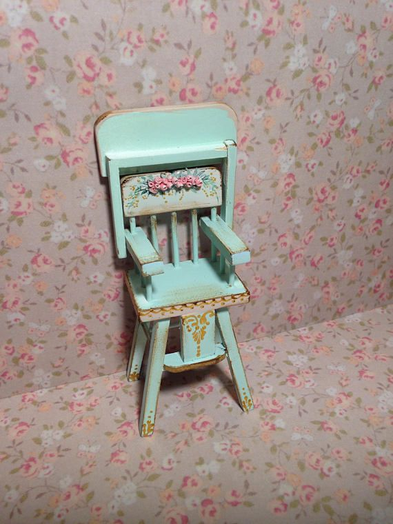 Silla bebe 1/12. Hand painted furnitures . Dollhouse furniture ...