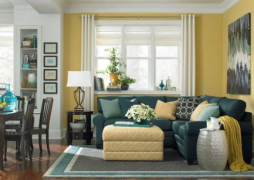 L-Shaped Living Room and Dining Room Decorating Ideas | L ...