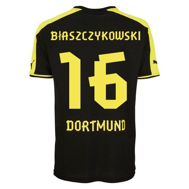 Borussia Dortmund (16 Biaszczykowski) Away Soccer jersey ...