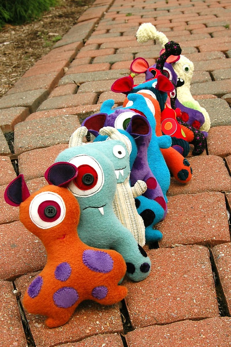 I just Love the felt/sock monsters! | Monster Party | Ugly