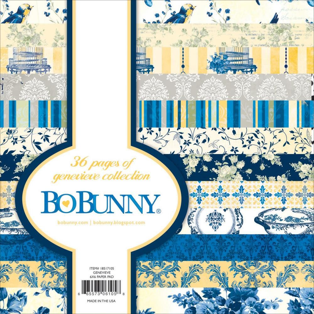 "BO BUNNY TOY BOX COLLECTION 6/"" X 6/"" PAPER PACK 36 SHEET PAD 12 DESIGNS NEW"