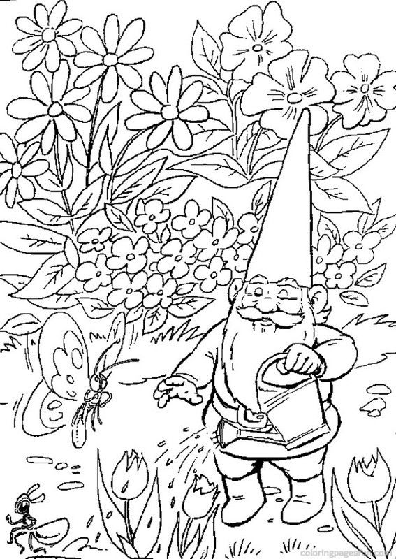 gnome coloring pages - Google Search | David the gnome ...