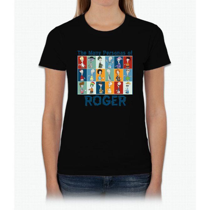 American Dad Roger Personas Womens T-Shirt