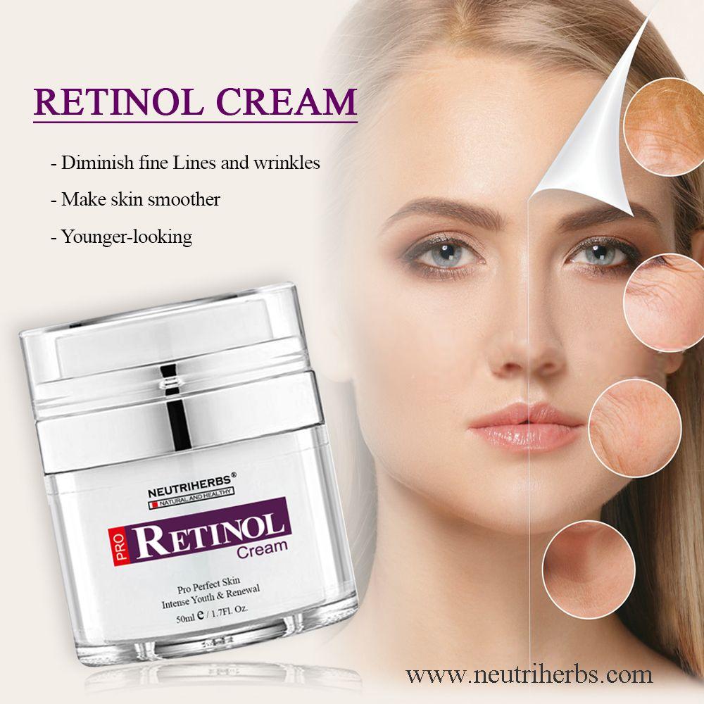 Neutriherbs Retinol Creme Proporciona A Mais Alta Concentracao De Retinol Vitamina A Profundamente Na Superficie Da P Moisturizer Cream Retinol Cream Retinol