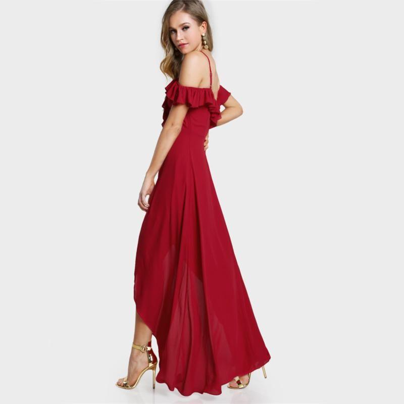 Red Fairytale Ruffle Dress  e58bad7924af