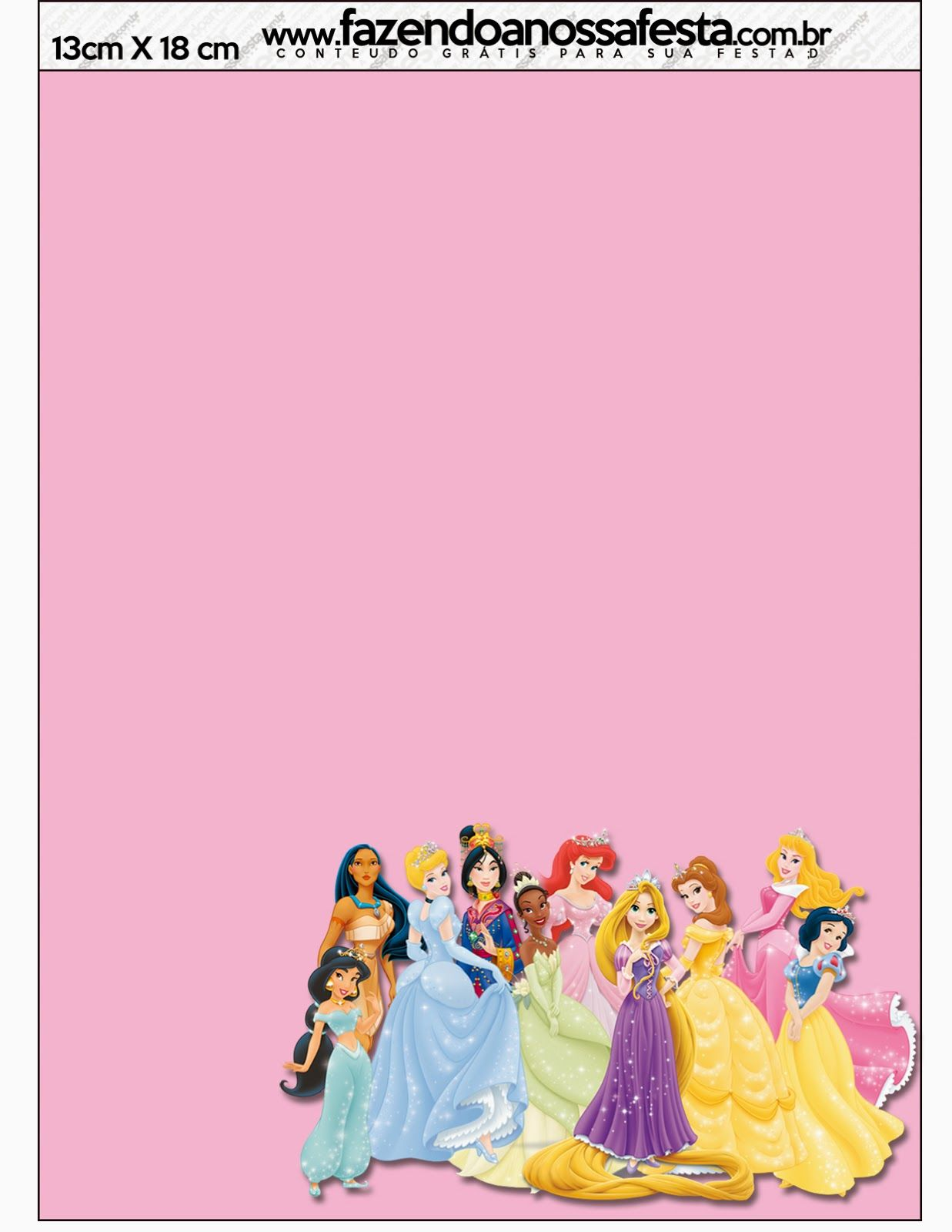 Princesas Disney invitaciones tarjetas y marcos de foto para – Disney Princess Printable Birthday Cards