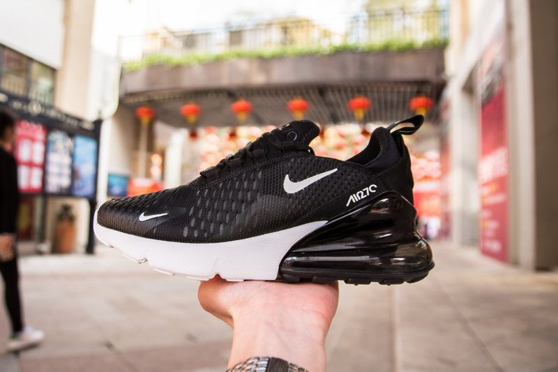 """online retailer b6300 b2338 Nike Air Max 270 AH6789-002 Black White Sneaker for Sale-14 Featuring a  Black Flyknit upper paired with an overside """"270"""" on the medial side and  Nike Swoosh ..."""