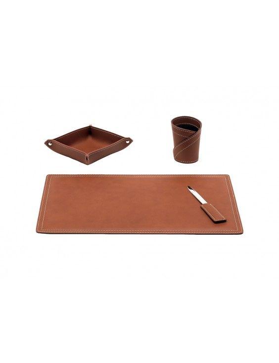 Set Bureau 4 Pieces En Cuir Ascanio Acc Bureaus Wallet