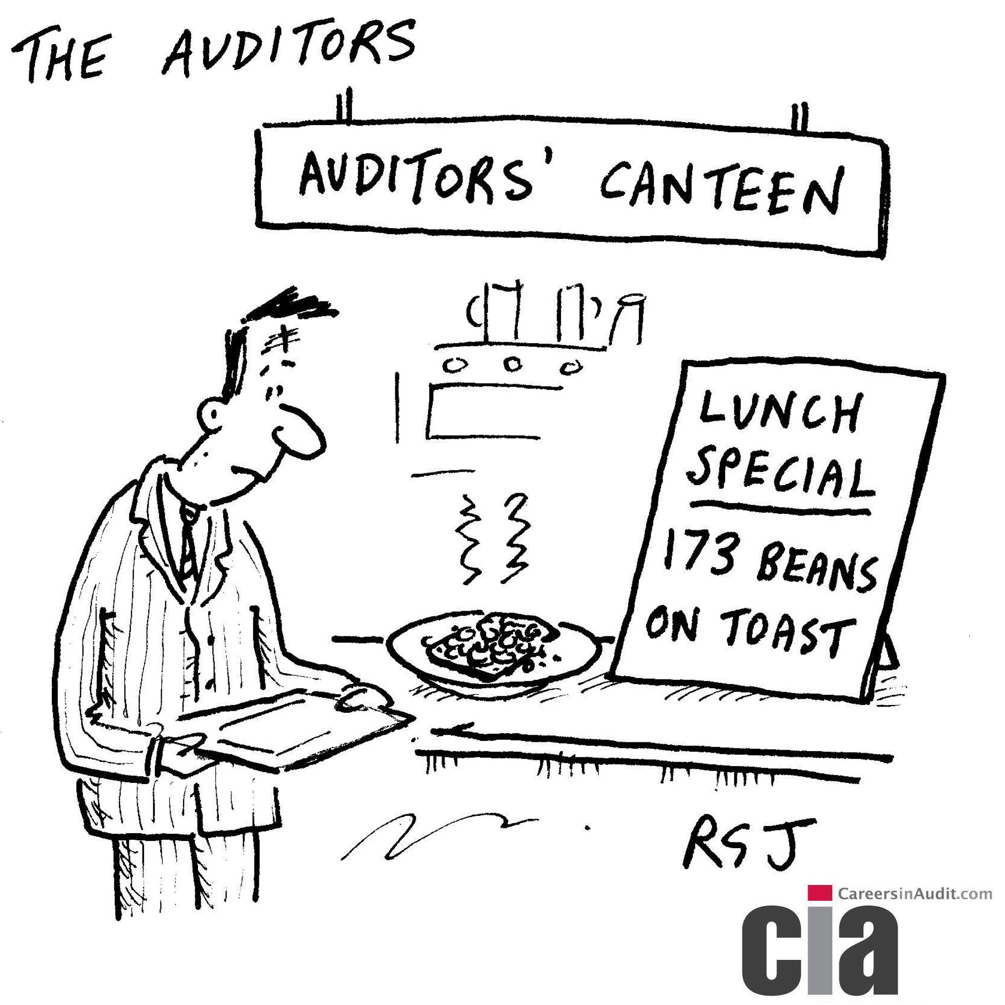 Audit Cartoon  Auditors Canteen  Audit Cartoons