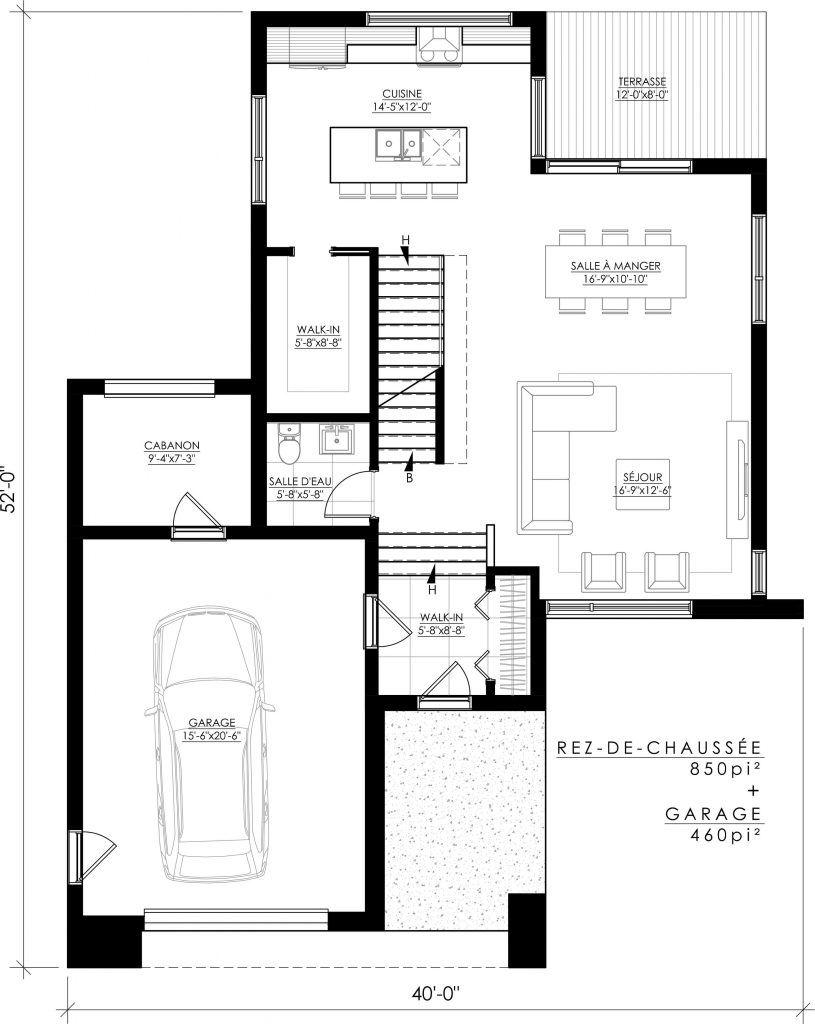 Notre plan de maison moderne Ë_138 est vendu directement en ligne et ...