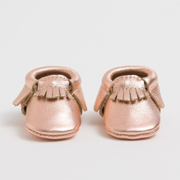 9094b4b4f451 Beautiful and Classic Rose Gold Baby Moccasins  freshlypicked