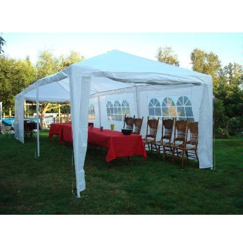 10 X 30 White Party Tent With Sidewalls 12599