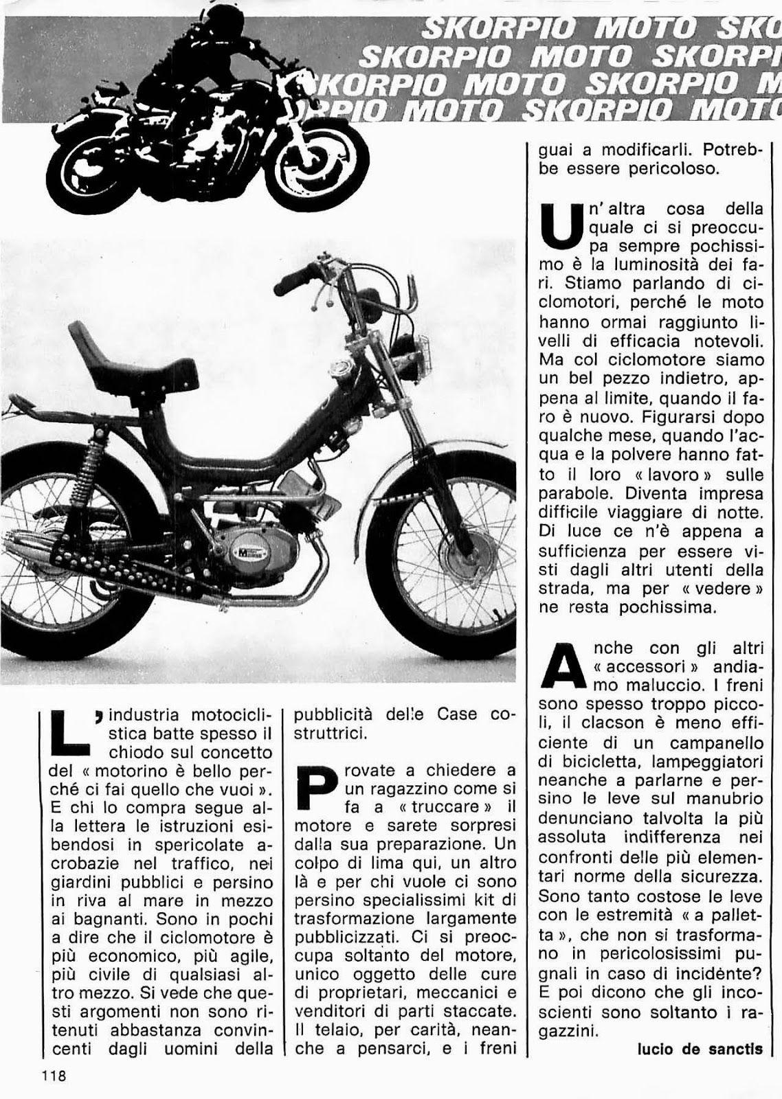 SCRIVOQUANDOVOGLIO: SKORPIO MOTO (02/12/1982)