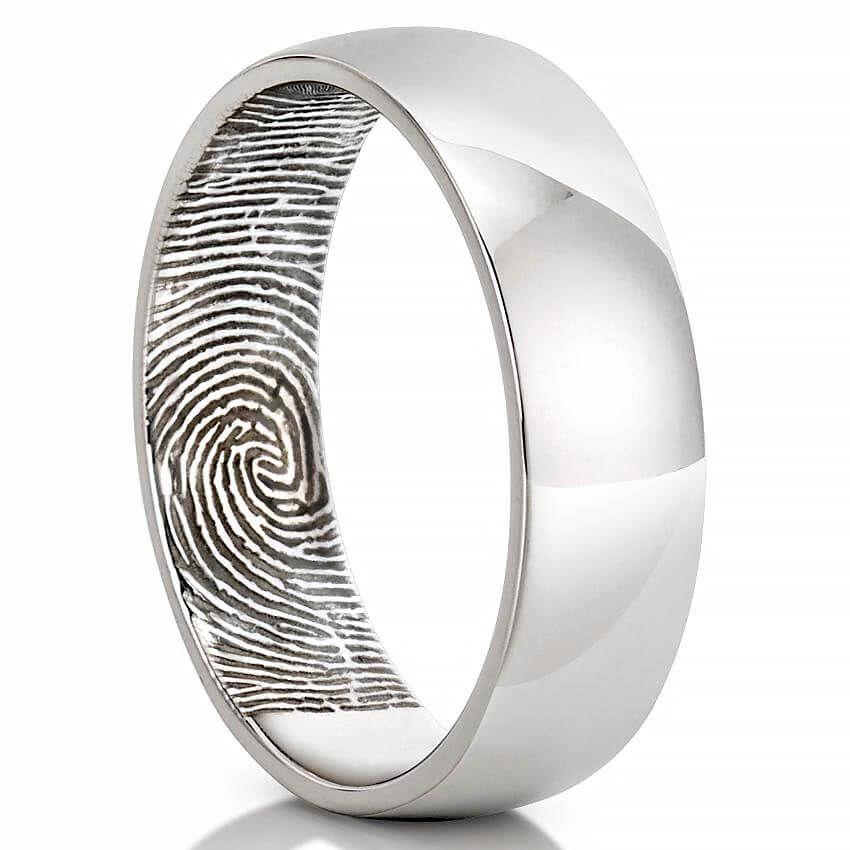 Fingerprint Wedding Band Men S Fingerprint On Inside Of Wedding Band Fingerprint Wedding Bands Gold Topaz Engagement Ring Fingerprint Wedding