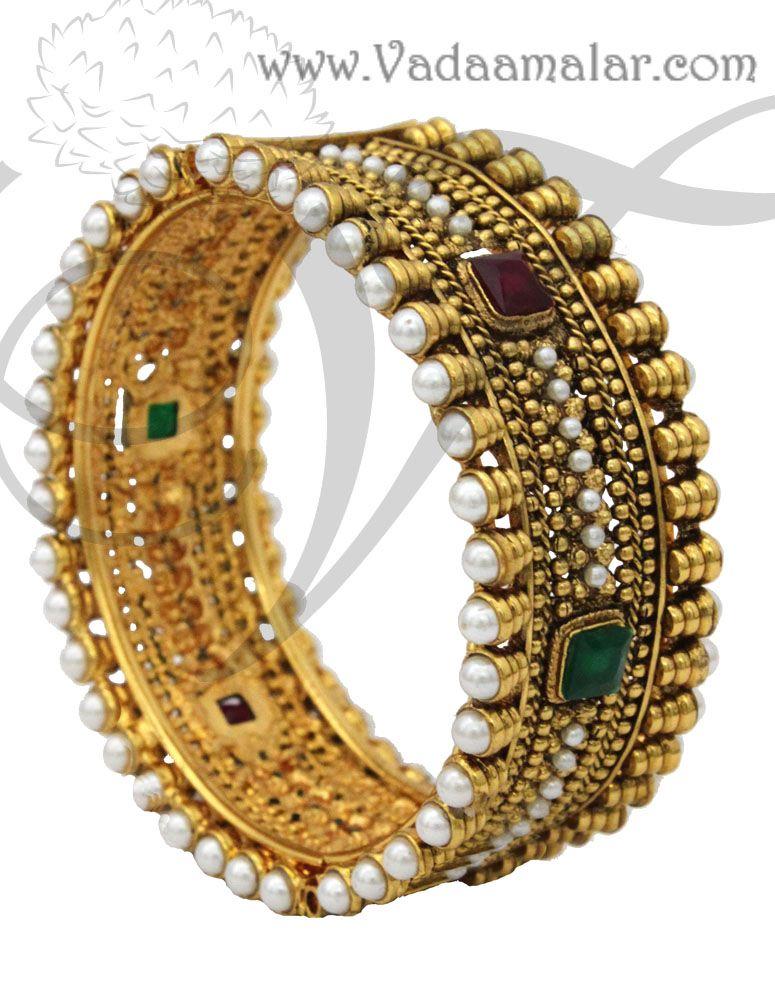 Antique design bangles http://www.vadaamalar.com/antique-design ...