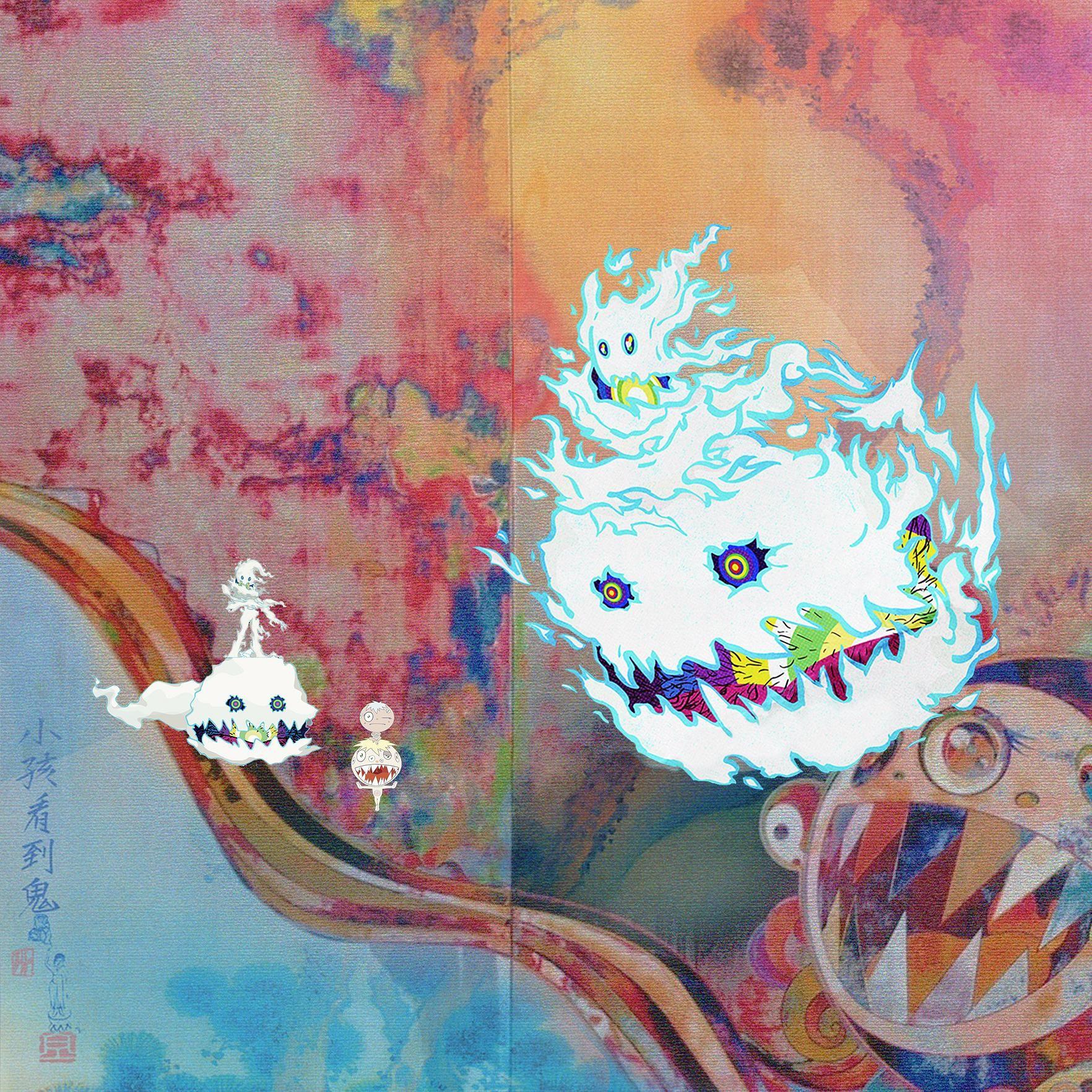 Kids See Ghosts We All See Ghosts Album Artwork Cover Art Music Art Print Art
