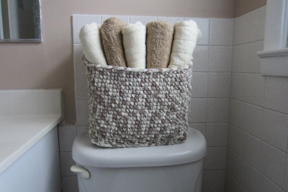 Towel Storage Basket Large Bin For Bathroom Toiletries Etsy In 2020 Towel Storage Storage Baskets Large Storage Baskets