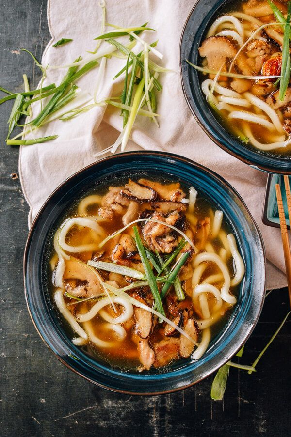 Udon Noodle Soup With Chicken Mushrooms The Woks Of Life Udon Noodle Soup Recipes Food