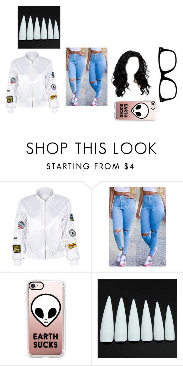 """""""Not Done"""" by zyriajones ❤ liked on Polyvore featuring WithChic and Casetify"""