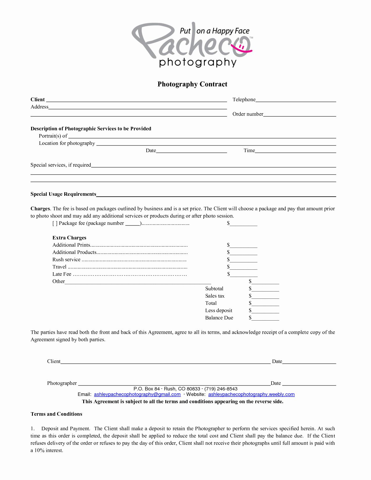 Portrait Photography Contract Template Best Of Graphy Contract Template In 2020 Wedding Photography Contract Template Wedding Photography Contract Photography Contract