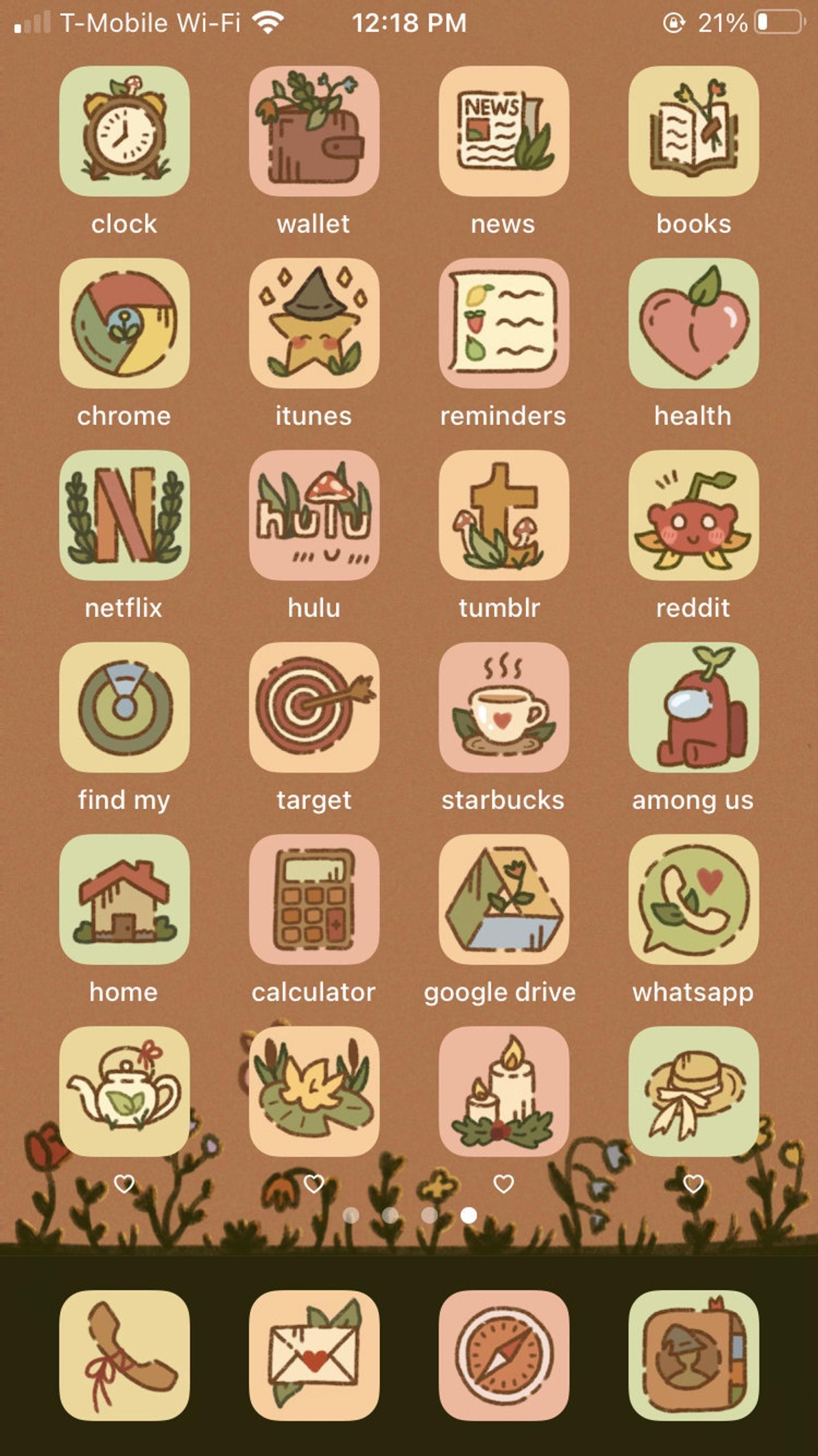BUNDLE Cottagecore / Fall Aesthetic iPhone iOS 14