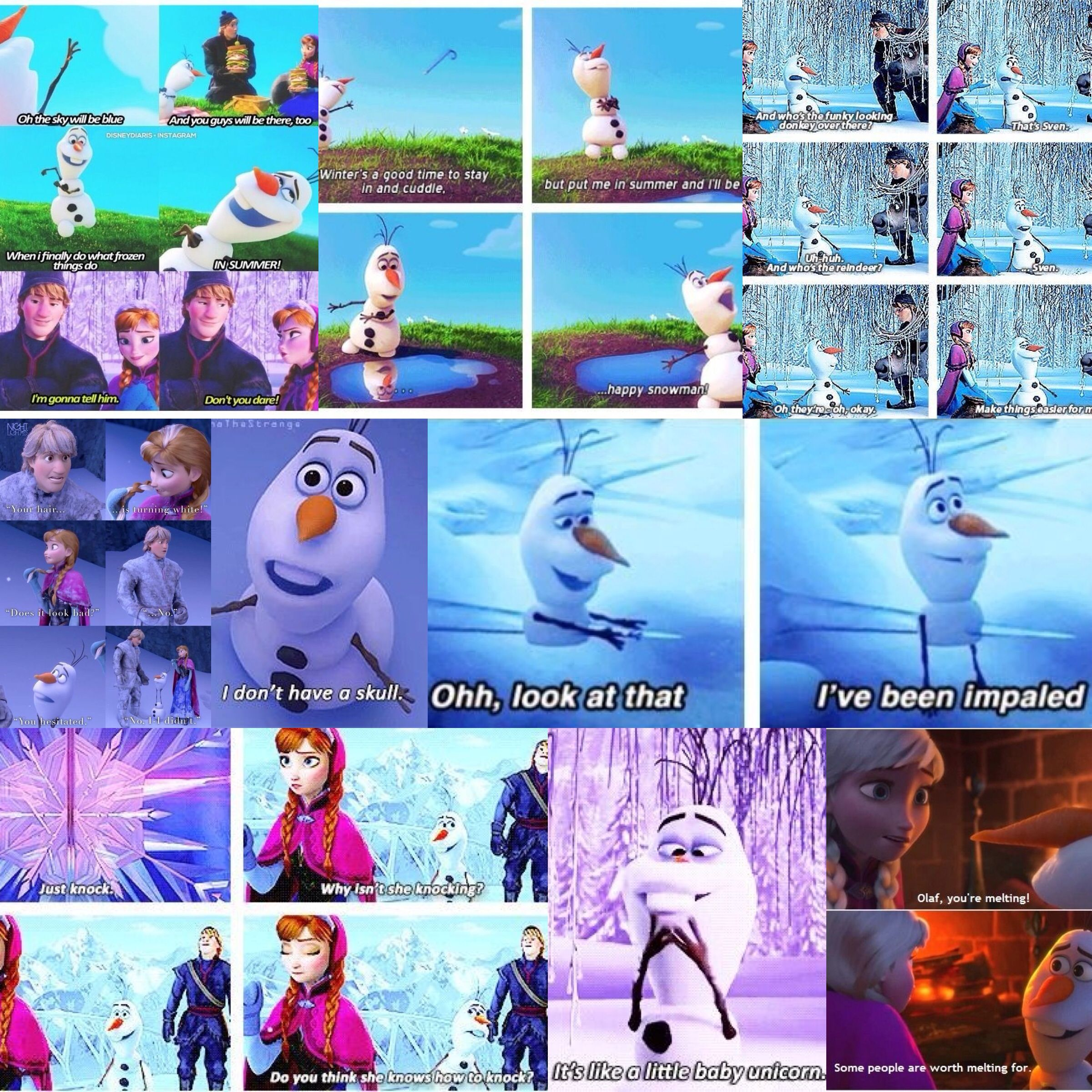 some of my fav Olaf quotes - frozen | Taylor | Pinterest