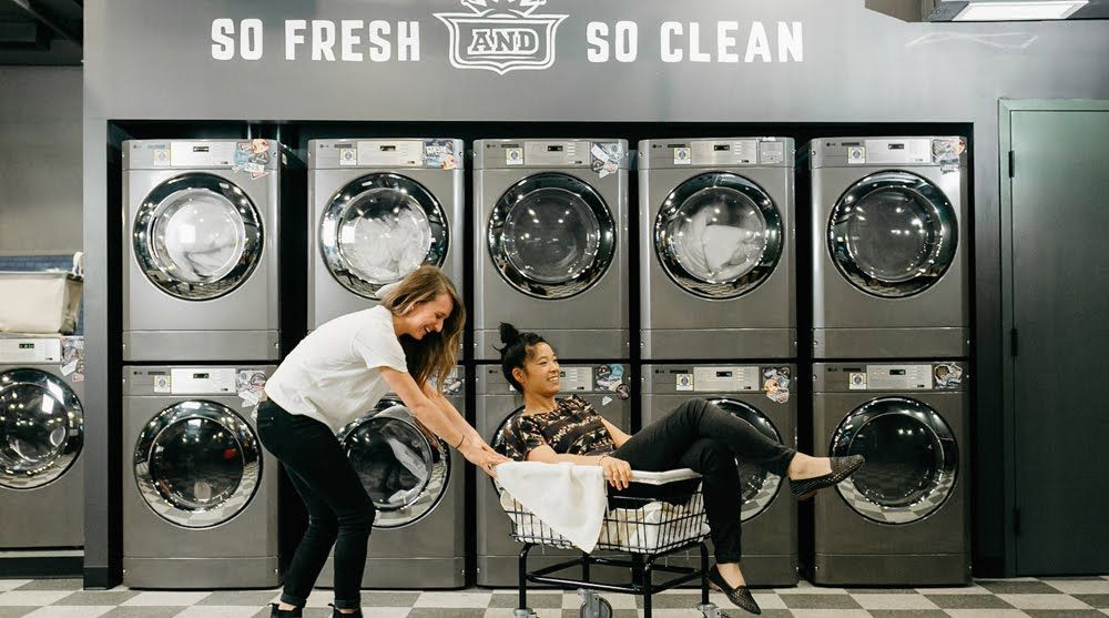 Pin By Velma Waller Gibbens On Cafe Laundry Shop Laundromat