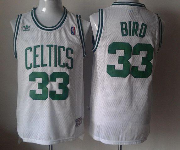 Adidas NBA Boston Celtics 33 Larry Bird New Revolution 30 Swingman Soul  Throwback White Jersey a33cb22d3