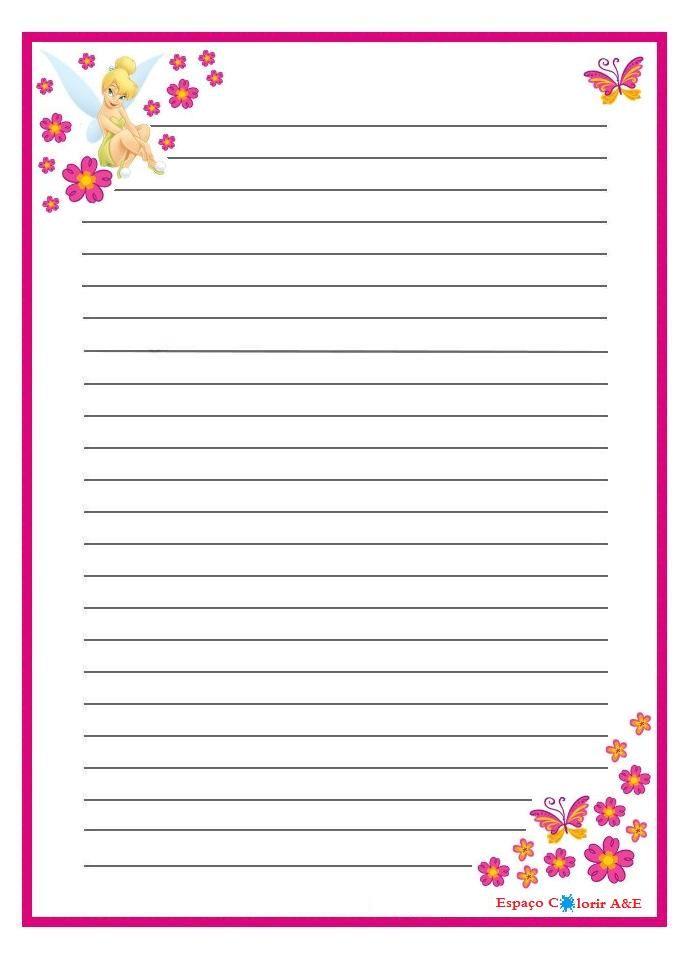 Portal a e papel de carta sininho 10 papel de cartas for Paginas para hacer planos